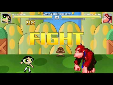 mugen-battles-#31-buttercup(me)-vs-donkey-kong