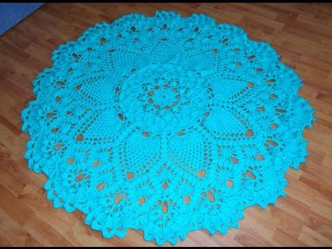 Цветные коврики.Вязание.