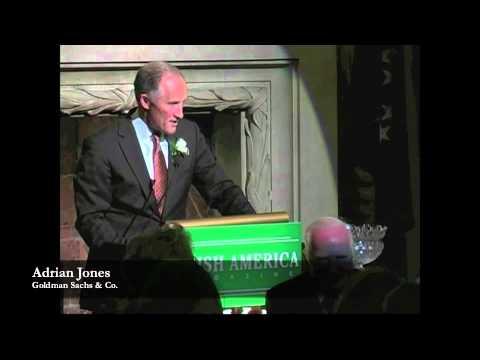 Adrian Jones' Keynote Address at Irish America's Wall Street 50