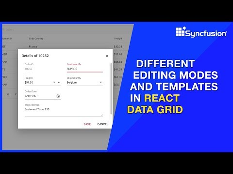 Different Editing Modes and Templates in React Data Grid thumbnail