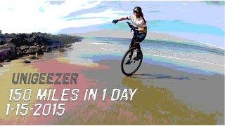 UniGeezer - 150 miles 1 day on Unicycle!