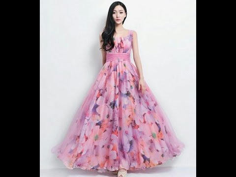 Long Floral print Dress in Multicolor - YouTube