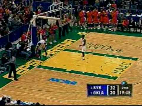 Gerry McNamara Alley Oop to Hakim Warrick vs. Oklahoma 2003 NCAA Tournament Elite 8