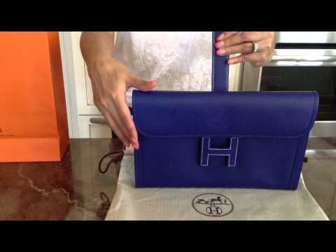 Hermes Jige Clutch bag - YouTube