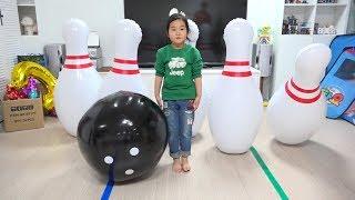 뽀로로 볼링 놀이 해봤어요! 누가누가 잘하나~!! 뽀로로 볼링 세트 거대 볼링튜브 장난감 놀이 Pororo Bowling Toy