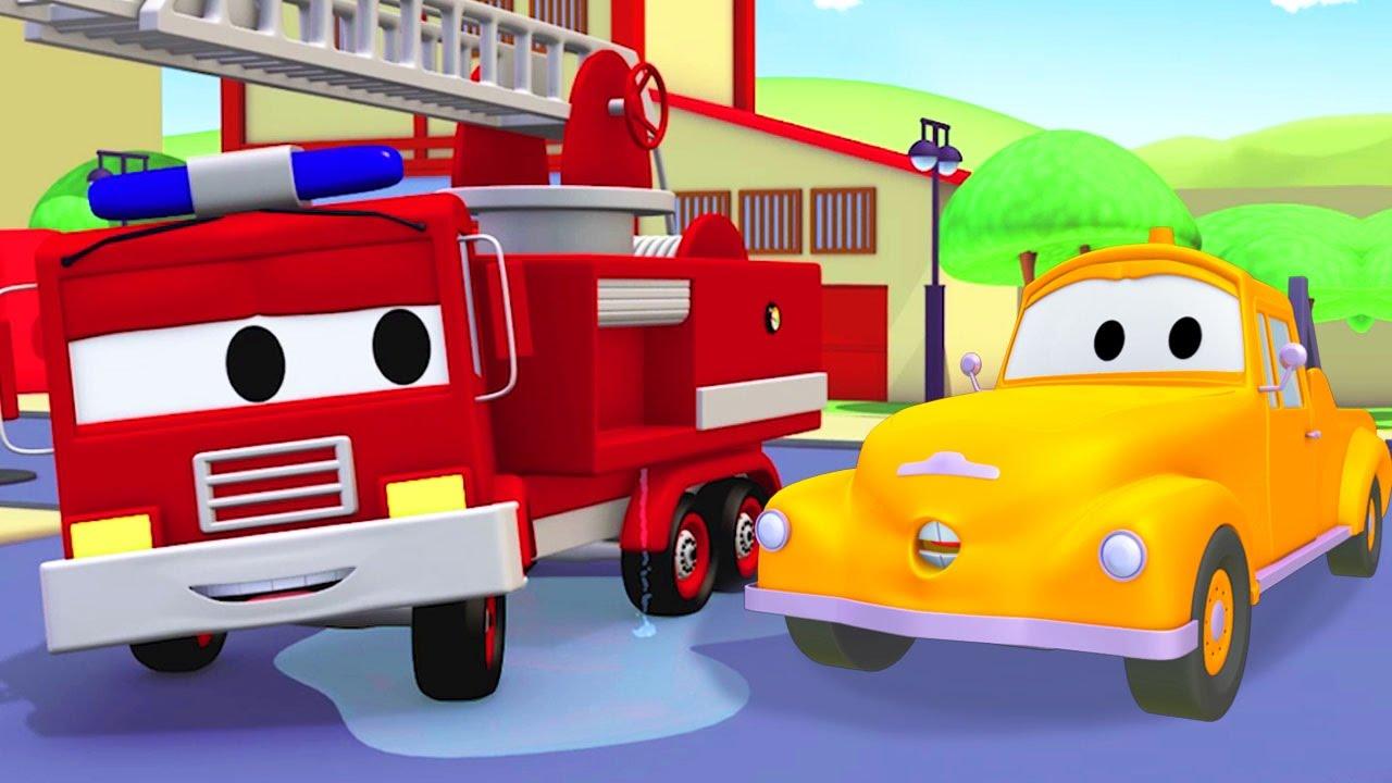 Tom il carro attrezzi e frank camion dei pompieri in