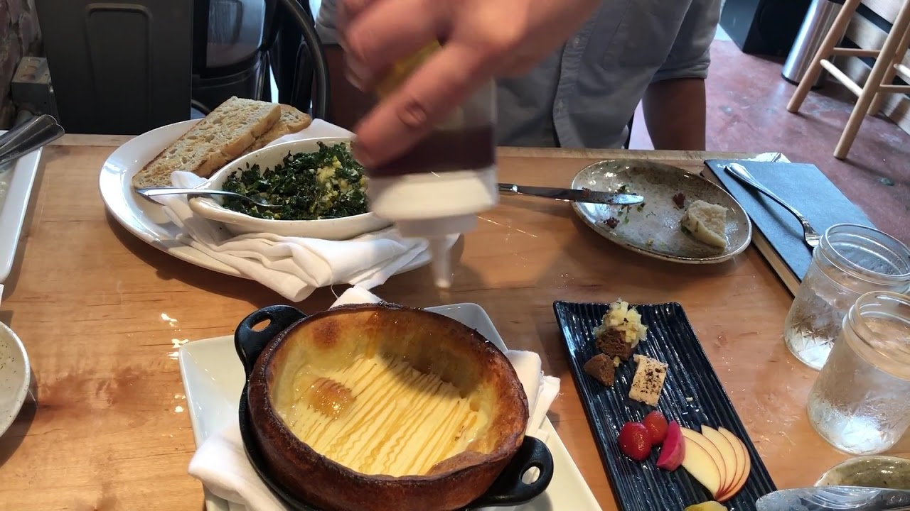 YIELD - Drizzling honey over Dutch Baby - YouTube