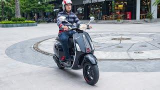 Trải nghiệm Vespa Sprint Carbon 125 ABS – Một chiếc tay ga phá cách | Xe.tinhte.vn