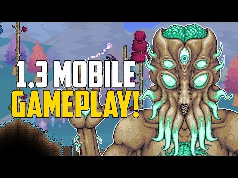 Terraria 1.3 Mobile Update | GAMEPLAY FOOTAGE & New Developers! | 1.3 Update