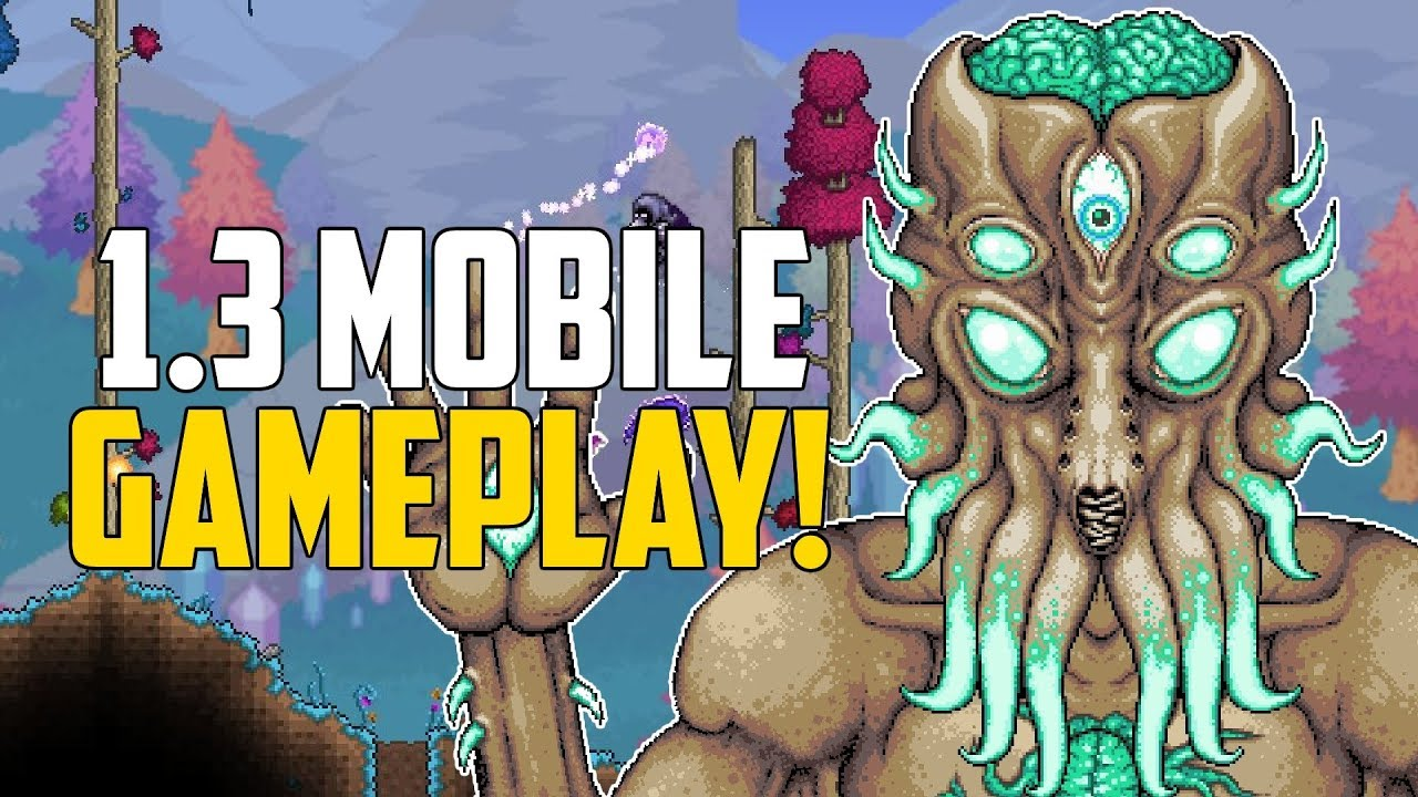 Terraria 1 3 Mobile Update | GAMEPLAY FOOTAGE & New Developers! | 1 3 Update