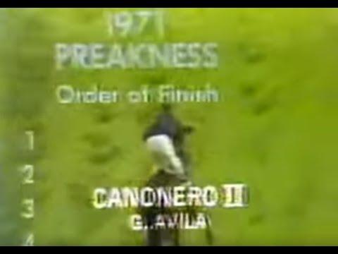 CAÑONERO con Gustavo Avila Preakness Stakes 1971...!!!