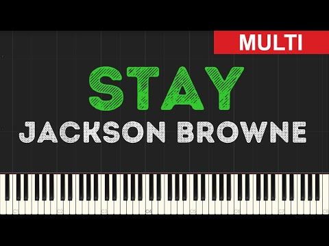 Jackson Browne - Stay (Instrumental Tutorial) [Synthesia]