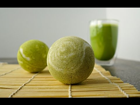 DIY MATCHA GREEN TEA BATH BOMBS + DEMO