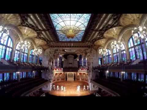 Palau de la música. El cant de la senyera. Orfeó Català i els Falcons de Vilafranca.