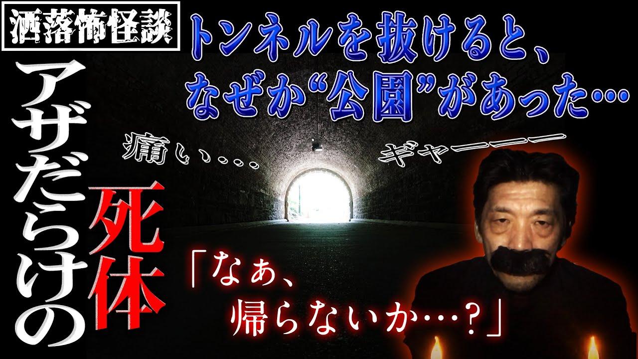 【洒落怖】【アザだらけの死体】トンネルを抜けると公園があった…【BBゴローチャンネル】