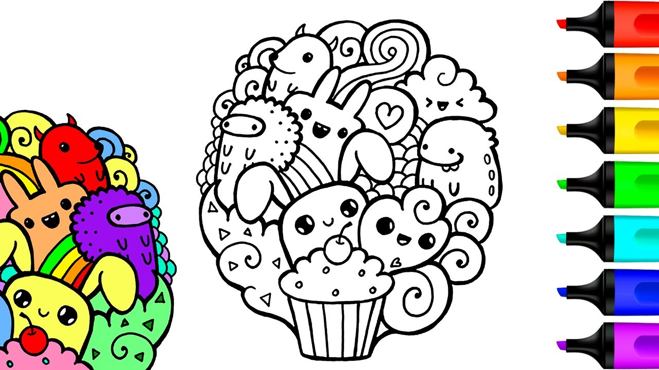 Doodle Coloring Pages Art And Coloring Fun Youtube
