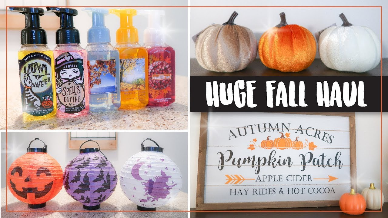 Hobby Lobby Halloween Decorations 2019.Fall Halloween Home Decor Haul 2019 Dollar Tree Hobby Lobby Bath Body Works Fall Decor Haul