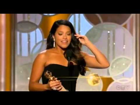 Gina Rodriguez wins for Best Actress in a TV Comedy  Golden Globe 2015