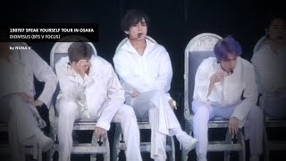 190707 SPEAK YOURSELF Tour in Osaka - 디오니소스 (Dionysus)/ BTS V / 방탄소년단 뷔 (4K fancam)