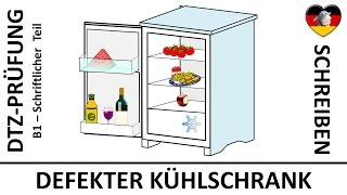 b1 prfung dtz schriftliche prfung brief defekter khlschrank deutsch lernen