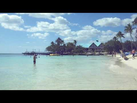 The beach and water at Dreams La Romana, Bayahibe Dominican Republic
