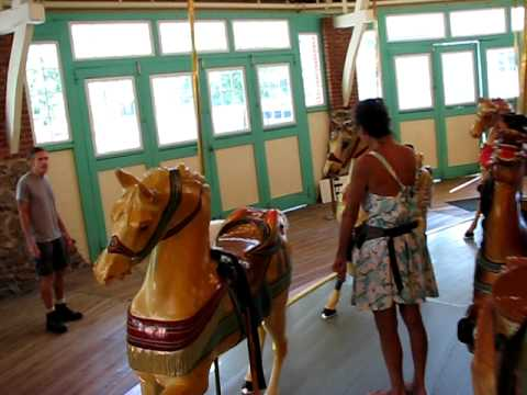 Borzoi's Birthday Treat ! Private Glen Echo Carousel Visit