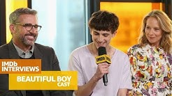 "Steve Carell, Timothée Chalamet Talk ""The Office"" & Emotional Scenes in 'Beautiful Boy' 