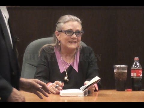 Carrie Fisher LAST PUBLIC MEET & GREET in LOS ANGELES 11/28/16 rip princess leia