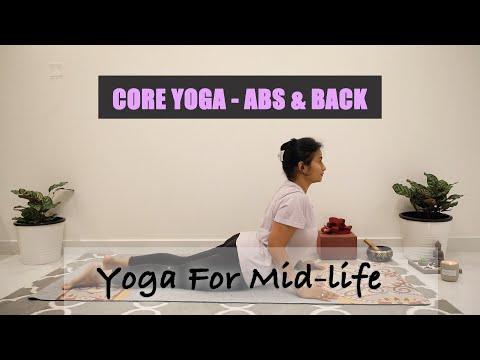 Core Yoga | Plank Sequence | Abs & Back | Reduce Belly Fat | Midlife Yoga | 20 min Yoga Strength