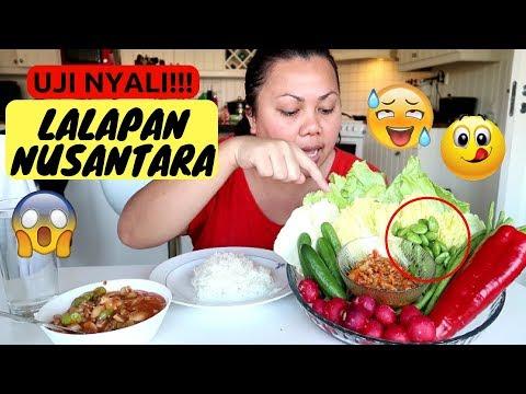 Makan PETE PERTAMA KALI!! lalapan favorite mpo ika plus SAMBEL SETAN
