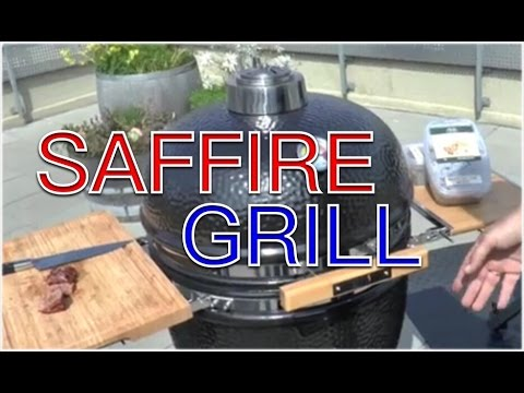 saffire kamado grill test first look keramikgrill klaus grillt youtube. Black Bedroom Furniture Sets. Home Design Ideas