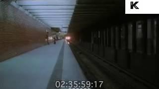 1980s New York Subway Train Past