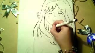 Как нарисовать Джувию Локсар из Хвоста фей[How to draw Juvia  from fairy Tail](Привет меня зовут Даша ! Я покажу вам как как можно нарисовать Джувию Локсар из аниме