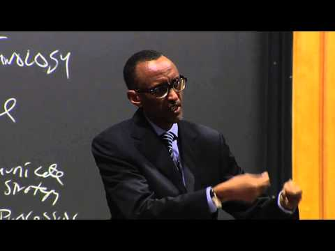 President Kagame speaks to Harvard Business School Class- Boston, 11 March 2013