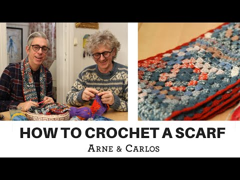 How to crochet a scarf using self-patterning sock yarn by ARNE & CARLOS