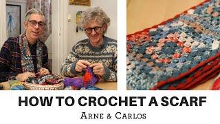How to crochet a scarf using selfpatterning sock yarn by ARNE & CARLOS
