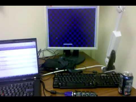 VGA Pong on Nexys 2 Xilinx Spartan 3E FPGA