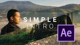 Simple After Effects Intro with Sliding Photo Video
