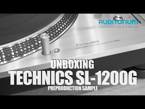 Unboxing TECHNICS SL 1200G