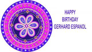 Gerhard espanol   Indian Designs - Happy Birthday