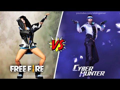 Emotes Comparison: Garena Free Fire vs. Cyber Hunter