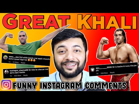 Pakistani Reacts To Great Khali's Funny Instagram Comments