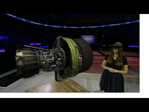 Hololens and Japan Airlines demo at WPC 2016