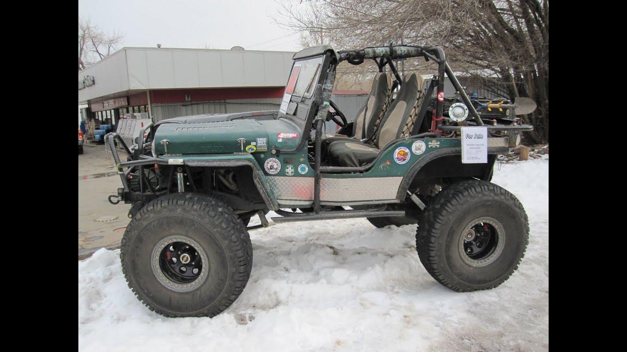 Willys Jeep For Sale >> 1950 Willys Jeep CJ3A Rockcrawler 4x4 Trail Rig - YouTube