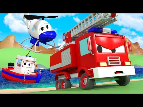 Bobby's in danger ! - The Car Patrol in Car City 🚓 🚒  l Cartoons for Children