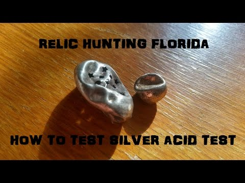 How To Test Silver Acid Test