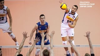 Dick Kooy ripped it Cross Court!   Men's Volleyball World Cup 2019