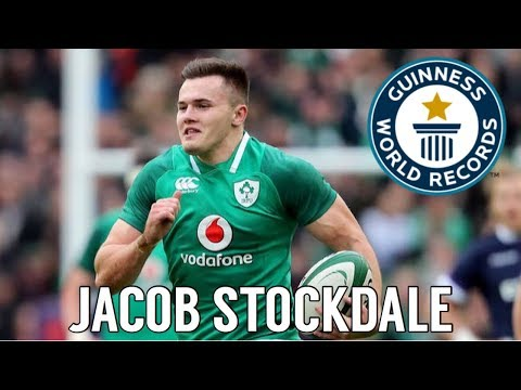 Jacob Stockdale •RECORD-BREAKER• All 7 Six Nations Tries 2018   HD