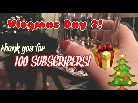 DECORATE WITH ME (& MORE!!) | THANK YOU FOR 100 SUBSCRIBERS! | Vlogmas Day 2 | Haley Toal thumbnail