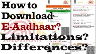 How To Download E-Aadhaar? | VID | Limitations, Differences - All About E-Aadhaar